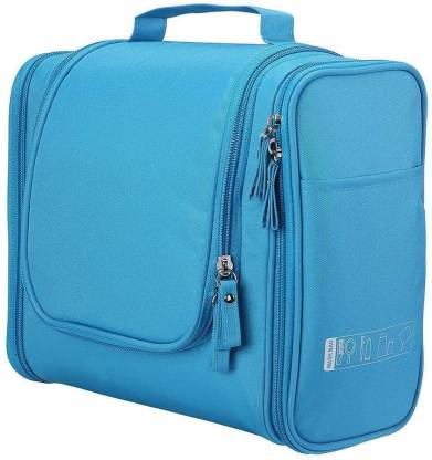 Everbuy Hanging Travel Toiletry Bag for Men & Women Large Cosmetics, Shampoo, Personal Items Makeup & Toiletries Organizer Kit Bag with 12 Compartments Water Resistant {Sky Blue} Travel Toiletry Kit