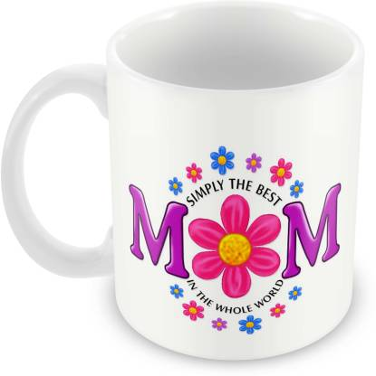 Tuelip Beautiful Colourful Abstract The Best mom Printed For Tea And Coffee Ceramic Coffee Mug