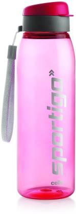 cello Sportigo Plastic Bottle, 800ml,Pink 800 ml Bottle