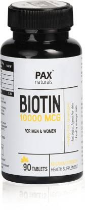 paxnaturals Biotin 10000 MCG Supplement for Hair, Skin & Nail Growth in Men and Women