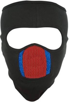 LA OTTER Black, Blue Bike Face Mask for Men & Women