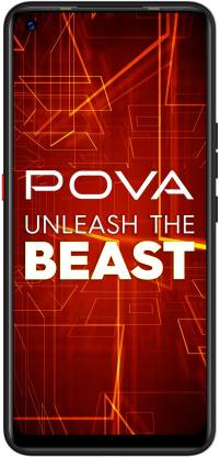 Tecno POVA (Dazzle Black, 64 GB)(4 GB RAM)