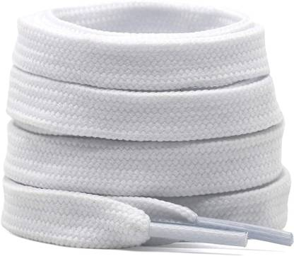 SHOESHINE Flat shoelace Hollow Thick for casual shoes HOLLOW_FLAT_White Shoe Lace