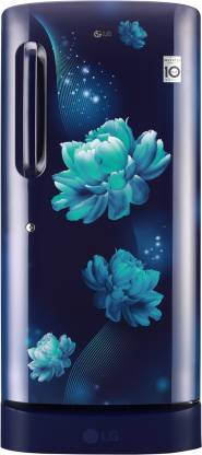 LG 190 L Direct Cool Single Door 5 Star Refrigerator with Base Drawer  with Smart Inverter Compressor