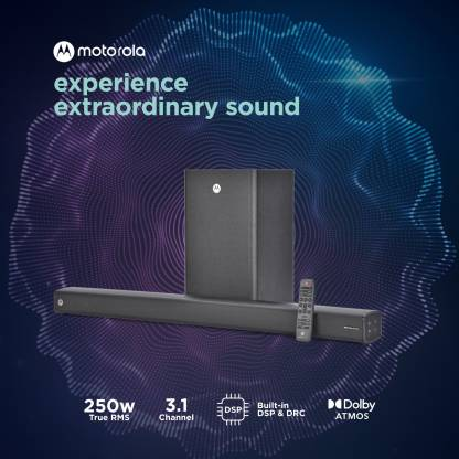Motorola Amphisoundx 250w Soundbar Best Price, Features, Specs