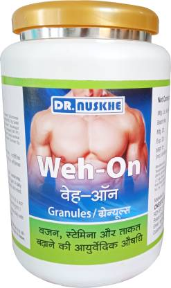 Dr Nuskhe Weh-on with Enzyme Blend | Protein | Carbs | Raw Whey Indian ayurvedic herbs (Weight Gainers/Mass Gainers)