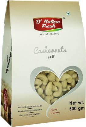 D NATURE FRESH RAW CASHEWS ,500G Cashews