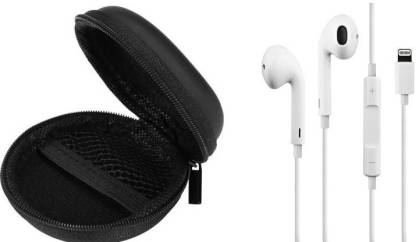 P.JOY Lighting-earphone deep bass headphone ( white ) Wired Headset(White, Black, In the Ear)