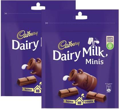 Cadbury Dairy Milk Chocolate Home Treats, 126g (Pack of 2) Bars