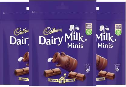 Cadbury Dairy Milk Chocolate Home Treats, 126g - Pack of 3 Bars
