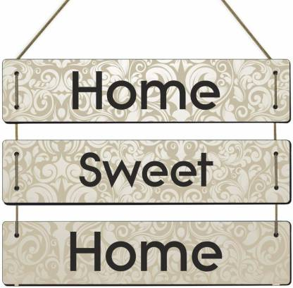 HOME SWEET HOME HANGING WALL PLAQUE