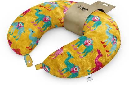 Flipkart SmartBuy Microfibre Abstract Travel Pillow Pack of 1