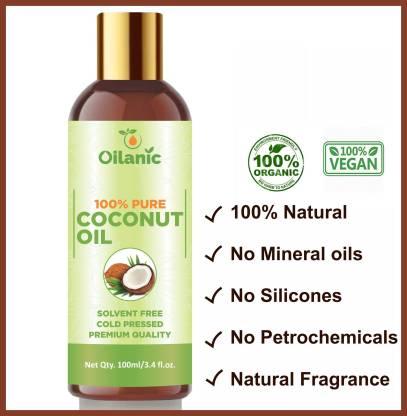 Oilanic 100% Pure & Natural Coconut Oil( 100 ml) Hair Oil