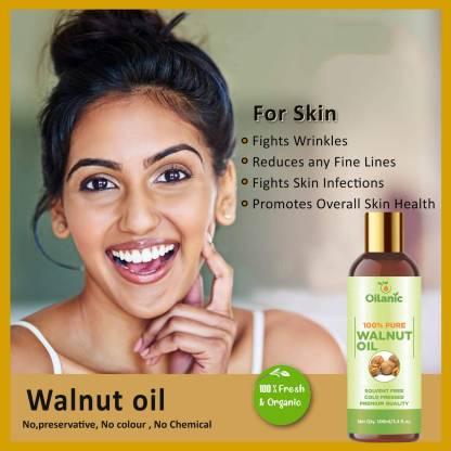 Oilanic 100% Pure & Natural Walnut Oil( 100 ml) Hair Oil