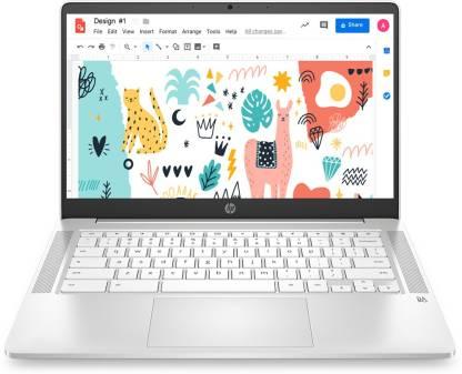 HP 14a Celeron Dual Core – (4 GB/64 GB EMMC Storage/Chrome OS) 14a- na0002TU Chromebook  (14 inch, Ceramic White, 1.46 kg)