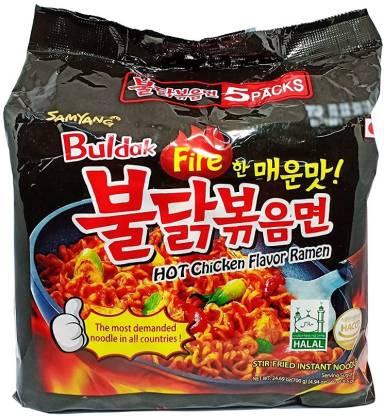Samyang Buldak FIRE CHICKEN (Pack of 5) Ramen Instant Noodles Non-vegetarian