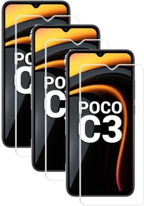 Fovtyline Tempered Glass Guard for Poco C3, Mi Redmi 9A, Mi Redmi 9i