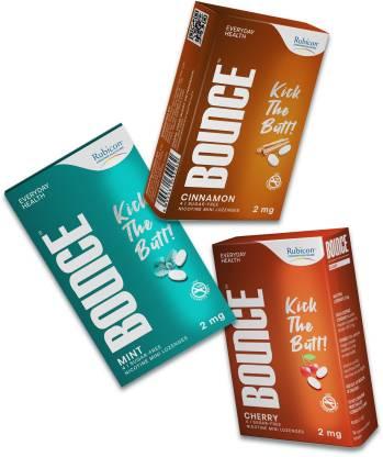 RUBICON BOUNCE Nicotine Mini Lozenge 2 mg   Cherry, Cinnamon, Mint Flavour, Sugar Free   Helps Quit Smoking   24 Count Smoking Cessations