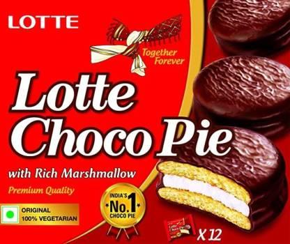 Lotte Chocopie-12 Pcs ( 300 GRAM ) Cookie Cake