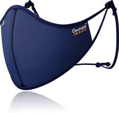 G1 WONDERS Anti Viral Graphene Silver Nano Technology Anti Pollution Reusable 50 Washable Stylo Face Masks ST22BLUL
