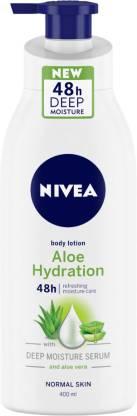 NIVEA Body Lotion, Aloe Hydration, with Aloe Vera, for Men & Women