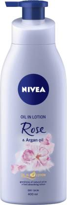 NIVEA Body Lotion for Dry Skin, Rose & Argan Oil