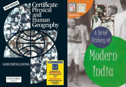 History Of Modern India And Certificate Physical And Human Geography By Gohchen Leong (PaperBack English Medium) Best For Civil Services Examination ,IAS Exam Prelims And Mains Exam (Paperback, Rajiv Ahir And Gohcheng Leong) New Edition