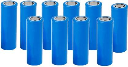 Hongli 3.7 Volt Rechargeable Lithium ion  Cell 1800 mah (it is not AA and AAA Size) (Pack of 10 Piece)  Battery