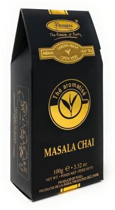 Premiers Masala Chai Flavored Tea | 50 Cups | 100 Grams | PB2 - Black Standy Pack | Assam Tea Blended With Masala Chai Flavoured Cardamom, Cloves, Cinnamon Masala Tea Pouch