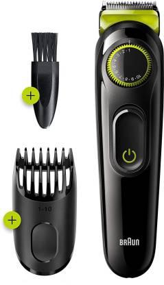 [Pay Via Paytm] Braun BRN Trimmer BT3221  Runtime: 50 min Trimmer For Men(Black, Green)