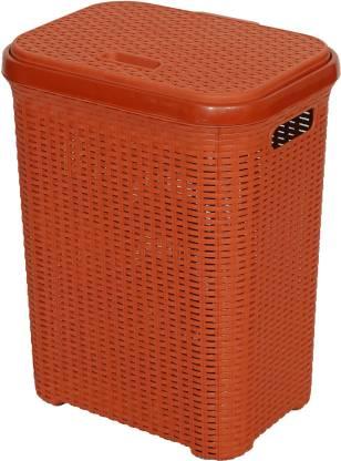 Esquire 50 L Maroon, Peach Laundry Basket