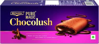 BRITANNIA Pure Magic Chocolush Biscuits Cream Filled