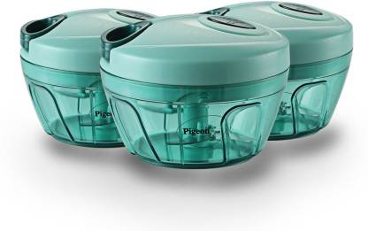 Pigeon Handy chopper, triple blade, green colour with pull cord technology Vegetable Chopper