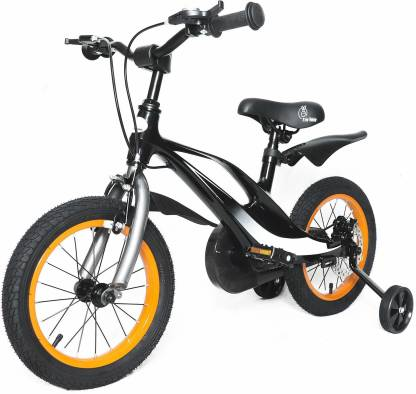 R for Rabbit Tiny Toes Swift 14 inch Bicycle for Kids of 3 to 5 Years 10 T Road Cycle(Single Speed, Black)
