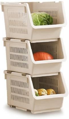 Lyrovo Plastic Fruit & Vegetable Basket