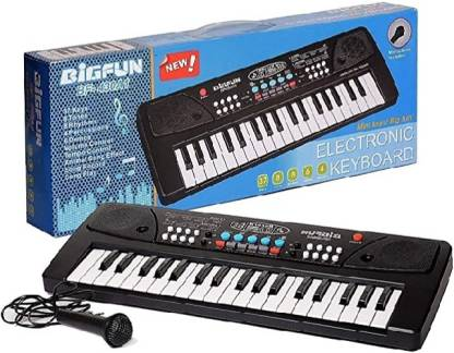 HK ENTERPRISES OFFICIAL 37 Keys Piano Keyboard Toy with Microphone, USB Power Cable & Sound Recording Function Analog Portable Keyboard (37 Keys) 37 Keys Piano Analog Portable Keyboard