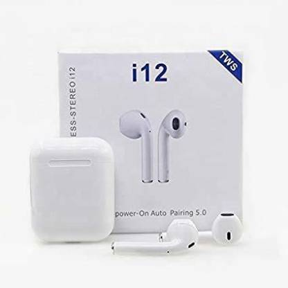 phinics INPODS 12 BLUETOOTH TWS EARBUDS (WHITE) Bluetooth Headset