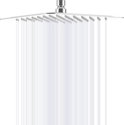 Alton 8X8inch 304 Grade-SS Rainfall High Pressure Overhead Shower With 360 Swivel Joint With out Arm Shower Head