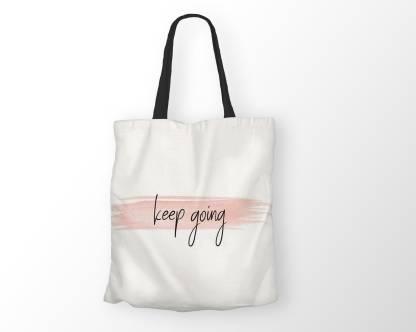 Hazel World WHITE PITCH KEEP DOING BEAUTIFUL TOTE BAG Shoulder Bag
