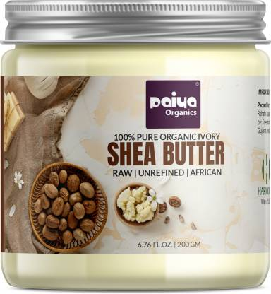 paiya organics 200gm Organic Raw Shea Butter For Stretch Marks From Ghana For Skin, Hair & Face