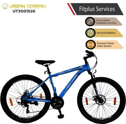 Urban Terrain UT3001S26 Steel MTB with 21 Shimano Gear and Installation Services 26 T Mountain Cycle