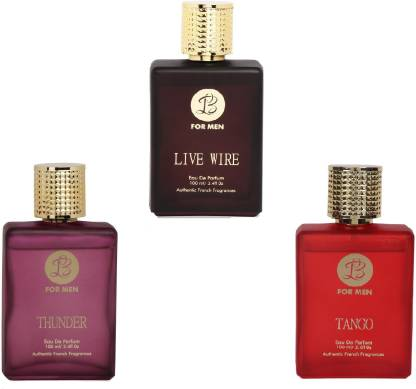 Lyla Blanc THUNDER LIVE WIRE TANGO Perfume Spray for Men- (Set of 3) (100ml each) Eau de Parfum  -  100 ml