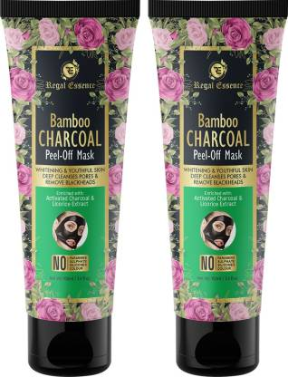 Regal Essence Bamboo Activated Charcoal Peel Off Mask, Deep Cleansing Mask, for Acne -100ml