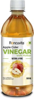 RONCUVITA Apple Cider Vinegar with Mother Vinegar- Raw, Unfiltered, UnRefined - 500ml Vinegar