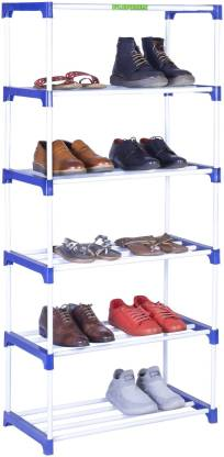 FLIPZON Multipurpose Rack Organizer for Shoe/Clothes/Books - (65.5 (L) x 32.5 (B) x 149 (H) Cms) (Need to Be Assemble - DIY) - Large Metal, Plastic Shoe Stand