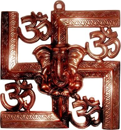 GAC Trend Om Ganesha Swastik Decorative Showpiece  -  21.6 cm