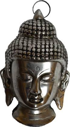 eCraftIndia Meditating Buddha Head Wall Hanging Decorative Showpiece  -  15.24 cm