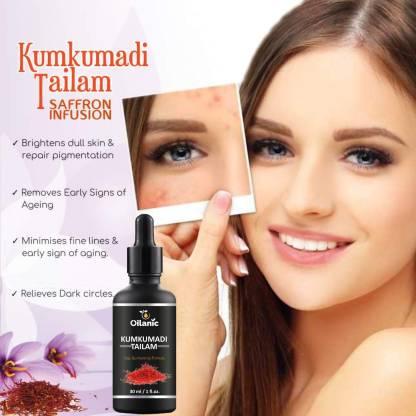 Oilanic Kumkumadi Tailam For Glowing, Spotless, Anti-Ageing & Radiant Skin (30 ml)