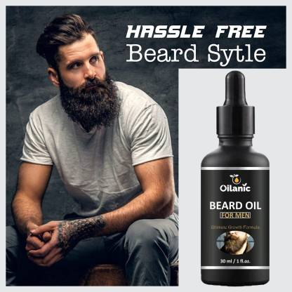 Oilanic Premium Beard Oil With Natural Ingredients -For Fast Beard Growth (30 ml) Hair Oil