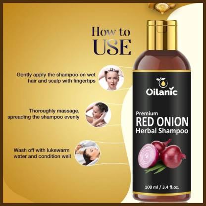 Oilanic Red Onion Shampoo - For Hair Growth & Hair Fall Control for Men & Women (100 ml)
